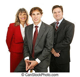 Gente de negocios amigable