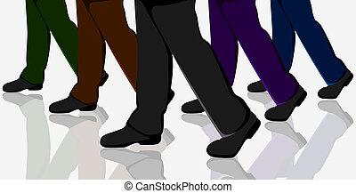 Gente de negocios caminando