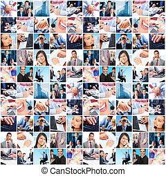 Gente de negocios collage.