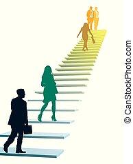 Gente de negocios con prisa