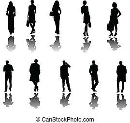 Gente de negocios con sombra