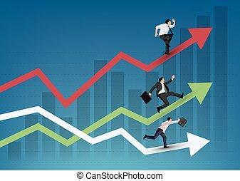 Gente de negocios corriendo