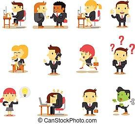 Gente de negocios de oficina