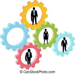 Gente de negocios en equipo tecnológico