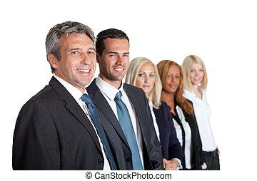 Gente de negocios en línea
