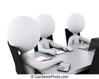 Gente de negocios en una sala de reuniones de la oficina.