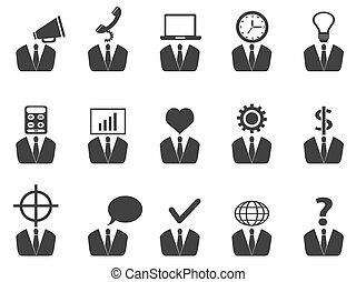 Gente de negocios idea iconos establecidos