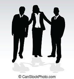 Gente de negocios, ilustración conceptual de vectores