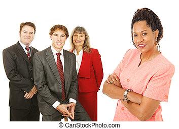 Gente de negocios inversa
