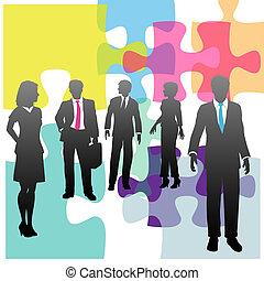 Gente de negocios, recursos humanos, problemas de solución