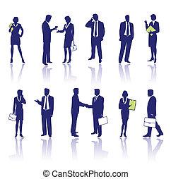Gente de negocios siluetas