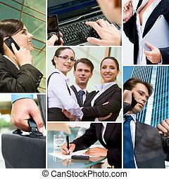 Gente de negocios y tecnología