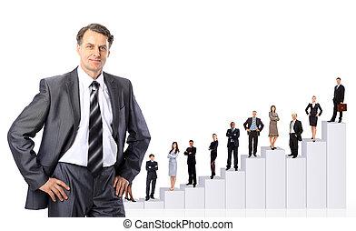 gente, diagram., equipo negocio