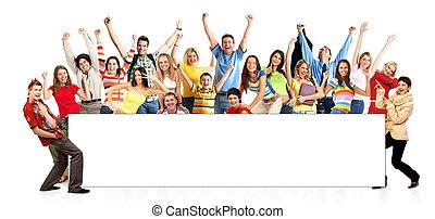 Gente divertida feliz