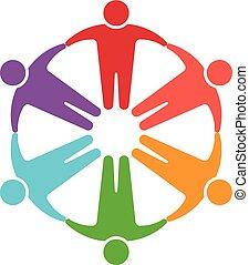 Gente en el logotipo