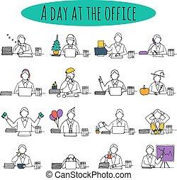 Gente en la oficina