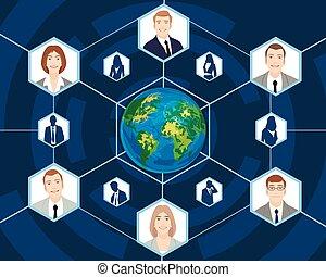 Gente en los negocios globales