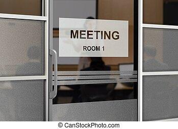 Gente en una sala de reuniones