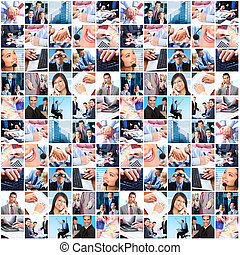 gente, grupo, collage., empresa / negocio