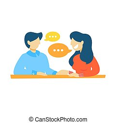 Gente hablando entre sí