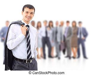 Gente joven y atractiva de negocios...