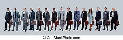 Gente joven y atractiva de negocios, el equipo de negocios de élite.