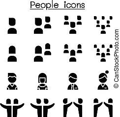 Gente lista de íconos