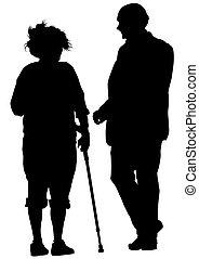 Gente mayor dos