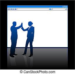 gente, página, plano de fondo, blanco, web browser, empresa / negocio