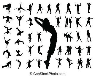 Gente que salta a bailar