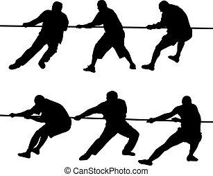 Gente tirando de la cuerda