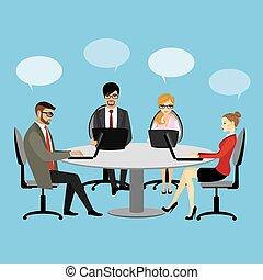 Gente trabajando en el trabajo de oficina de negocios de trabajo en equipo