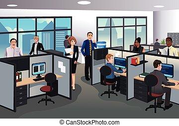 Gente trabajando en la oficina