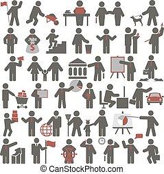 Gente. Un conjunto de iconos
