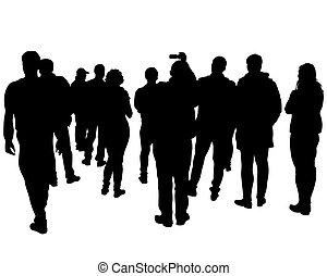 gente, uno, grupo