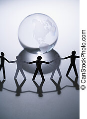 Gente y globo