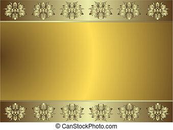 Gentil fondo dorado y plateado (vector)