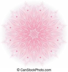 Gentil marco blanco y rosa