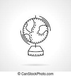 Geografía línea plana de diseño icono vectorial