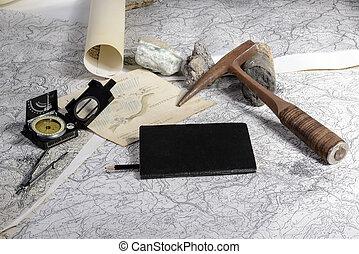 geológico, expedición