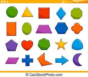 geométrico, básico, educativo, formas