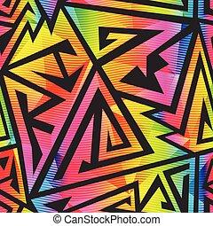 geométrico, seamless, brillante, patrón