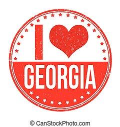 georgia, amor, estampilla