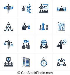 Gerencia y iconos empresariales