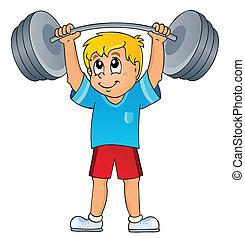 gimnasio, deporte, tema, 7