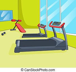 gimnasio, habitación
