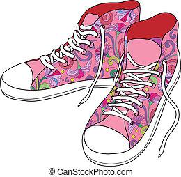gimnasio, shoes.