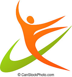 gimnasta, -, /, 1, logotipo, icono