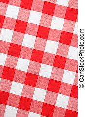 Gingham textil rojo