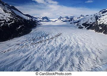 glaciar, campo
